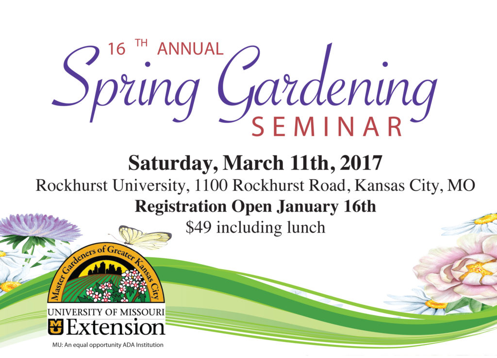 Spring gardening seminar 2017 for Kansas city home and garden show 2017